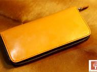 手工皮具桔黄马具皮手包