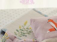 手工刺绣小黄花蝴蝶结弹簧发夹