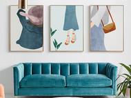 清新温暖的现代简约抽象家居装饰画