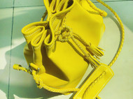 【大柠檬】monster-66纯手缝牛皮编织绳水桶包单肩包