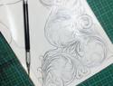 雕花竖式短夹(带图版)