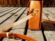 蝴蝶皮革手作 日系复古简约单肩休闲包 手缝植鞣革皮包