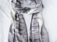 另一种风格的草木染丝巾