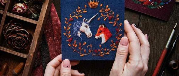 暖色调的神秘刺绣 | Mary Matushkina