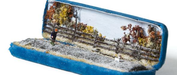 废弃珠宝盒中的微缩世界 - 加拿大多伦多艺术家Talwst的微缩模型作品