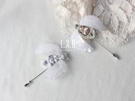 【LXB私人设计】法式刺绣 立体珠绣 昆虫胸针 (白锆石款)定制非现货