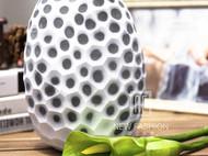 北欧家居饰品现代简约软装摆件 白色玻璃花瓶客厅装饰品斑点摆设