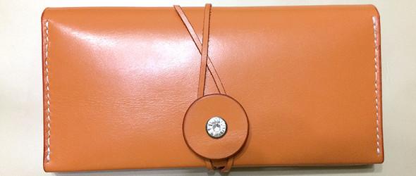 女士橙色长夹