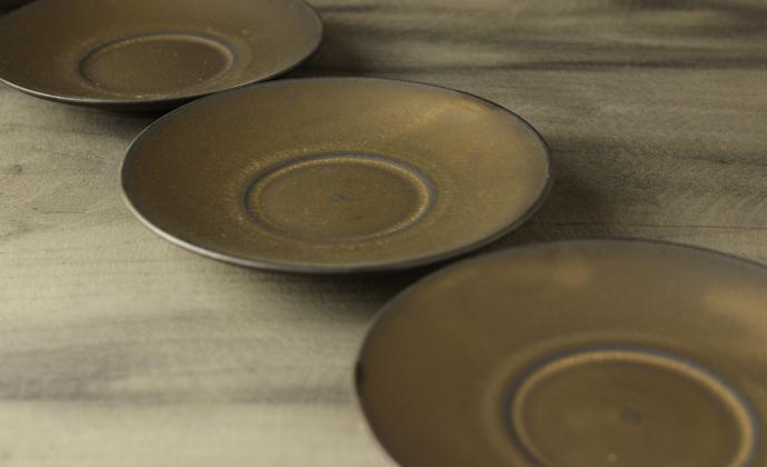 纯手工复古仿古茶具日式禪風茶道細陶茶壶 功夫茶具-圆碟杯托