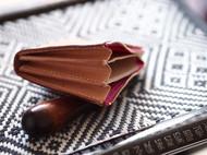 简约植鞣革短款纯手工制作拉链款小钱包