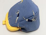 原创自制布艺树脂口金包零钱收纳小包
