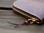 【白馬手造】手工 皮具 零钱包 手染中棕色