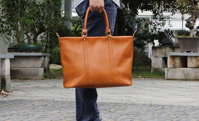 不期而遇UNFORSEEN丨男士托特包 手工定制 真皮包 原创 单肩包包