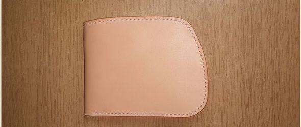 DIY皮革制作教程: 高桥椭圆钱包手工制作过程和教程