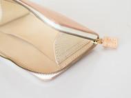 [蚨袋]纯手工手缝原色植鞣牛皮拉链钱包
