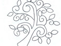 基础刺绣diy教程:结合简单刺绣和贴布,创作立体生动的树木绣绷