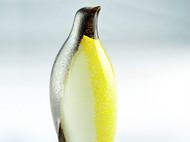 彩色玻璃动物企鹅摆件 立体装饰工艺品结婚礼物 家居新婚礼品饰品