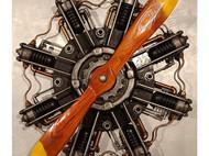 复古手工金属木创意飞机主题餐厅墙壁螺旋桨