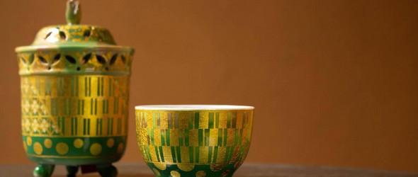 日本名家的漆器与陶瓷器物
