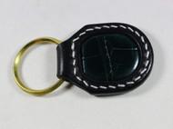 植鞣革镶嵌鳄鱼皮钥匙扣