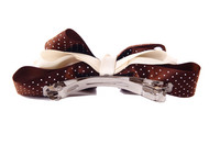 Ivenran 依雯然 手工发饰 甜美发夹 蝴蝶结优质缎带横夹 巧克力色