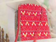 漫与手工:麋鹿熊挎包单肩包复古口金布包新年圣诞礼物