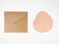 MISKART 鼠标垫 植鞣皮手工皮具 头层牛皮 鹅卵石元素 匠心