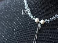 【LXB私人设计】珍珠流苏水晶项链