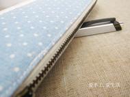 蓝色清新笔袋