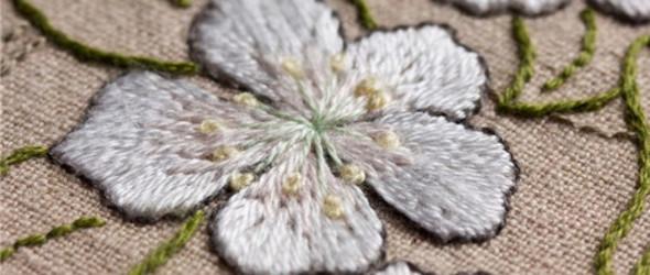 刺绣   盛开的五月,刺绣比花艳!
