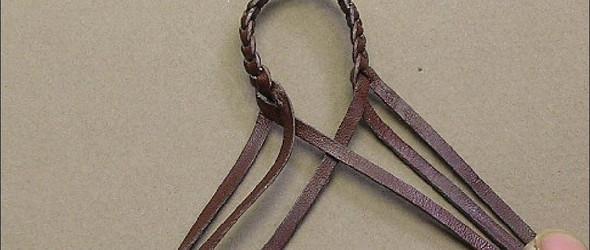 皮绳编织图解教程:三种不同的方法编制六股皮绳