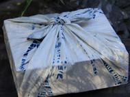 南山草木染原创自制染蓝扎染纯棉单层包裹巾小方巾手帕手绢口水巾