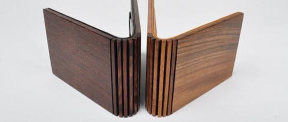 Maison Martin Margiela马丁-马吉拉皮革木材混搭钱夹