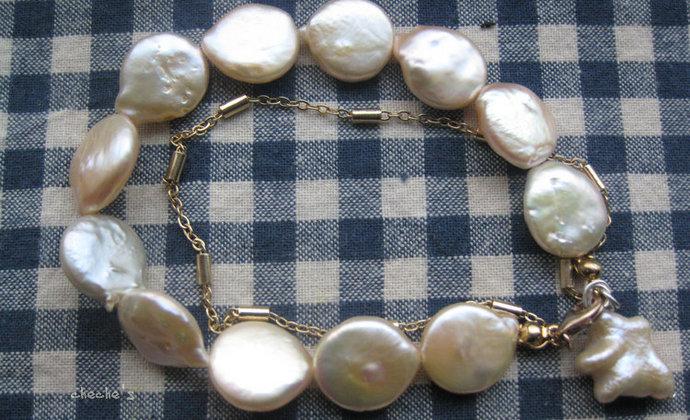 未 不规则珍珠手钏