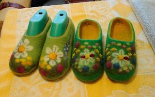 羊毛毡鞋教程&湿毡制鞋教程:手工制作漂亮的羊毛毡居家鞋教程(超详细图解)
