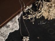 【Mint】橄榄形天然粉晶珍珠手作925纯银锁骨链项链