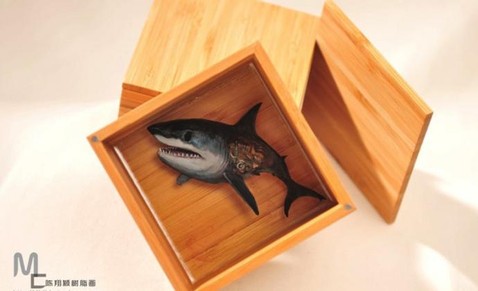 树脂画 机械时代 血腥狂鲨 DIY树脂3D立体画 陈翔颖作品
