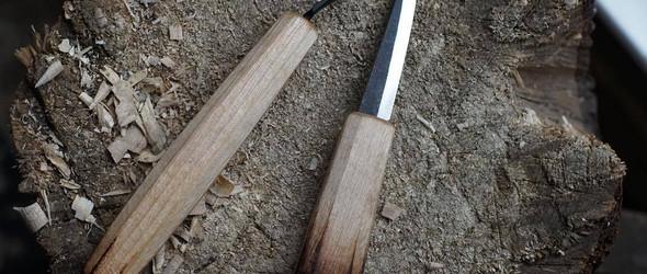 自制挖勺刀与手工木勺