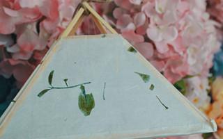 纸艺系列丨古风宣纸花草灯,点亮一抹淡淡的清香。
