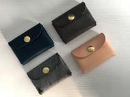 原创手工牛皮革植鞣革美式简约小巧男士女士卡包名片大容量收纳包