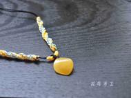 【花布手作】夏秋之恋--琥珀原石手磨