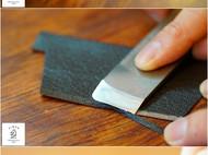 一个短夹材料包,包含190页的教程,纸格和法国Sully山羊皮
