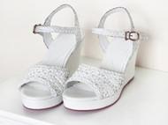 春季新款鱼嘴坡跟凉鞋