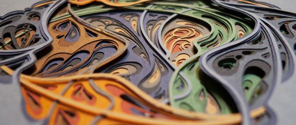 以繁复的纸雕构造奇妙的梦幻仙境 | Hazel glass