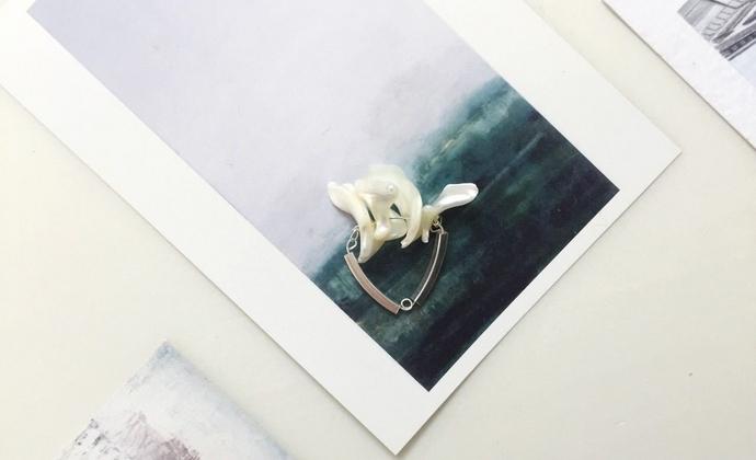 入口/ENTRANCE独立设计 天然马蹄螺925银防过敏个性独特手工戒指