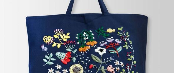 韩国女生 @ninanoemb 新颖而特别的花卉刺绣