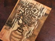 木刻版画,几张近日刻的小画