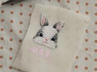 手工刺绣布艺胸针胸针布贴萌兔子