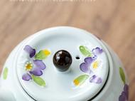 日本进口有田烧手工茶具:紫兰茶具套装