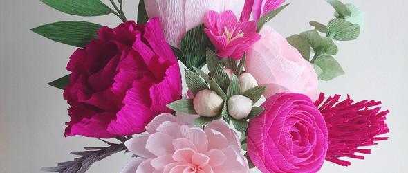 精美的皱纹纸捧花 -美国 Amaranthus Paper & Flora 手工纸花工作室